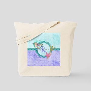 Personalized Monogram Mermaid Tote Bag