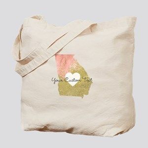 Personalized Georgia State Tote Bag