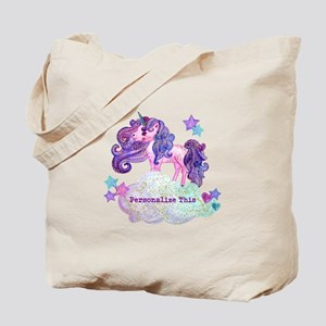 Cute Personalized Unicorn Tote Bag