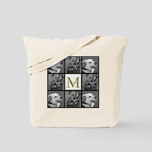 Beautiful Photo Block and Monogram Tote Bag