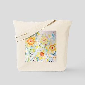 Watercolor Daffodils Pattern Tote Bag