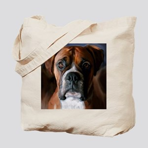 Adoring Boxer Dog Tote Bag