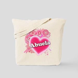 Abuela Heart Art Tote Bag