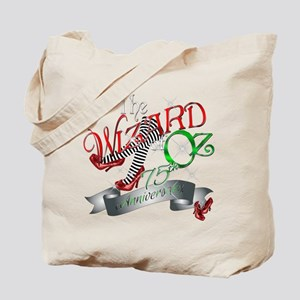 75th Anniversary Wizard of Oz Red Shoes Tote Bag