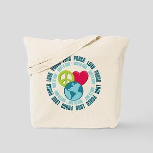 Peace Love Earth Day Tote Bag