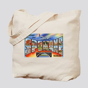 Spokane Washington Greetings Tote Bag