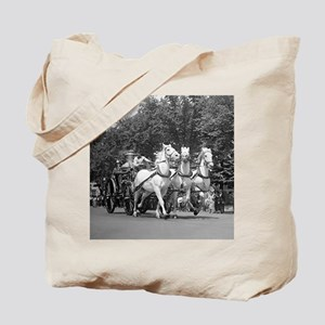 Fire Department Horses Tote Bag