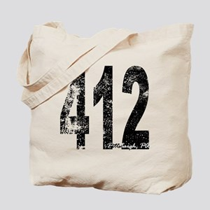 Pittsburgh Area Code 412 Tote Bag