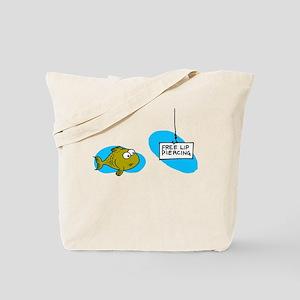 Lip Piercing Tote Bag