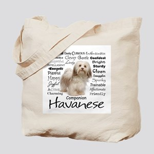 Havanese Traits Tote Bag