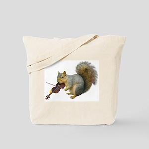 Squirrel Violin Tote Bag