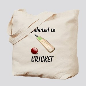 Addicted To Cricket Tote Bag
