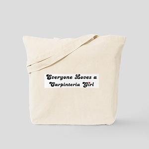 Carpinteria girl Tote Bag