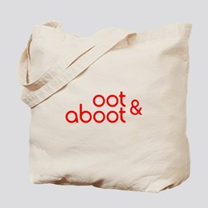 Oot & Aboot (red) Tote Bag