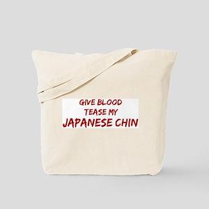 Tease aJapanese Chin Tote Bag