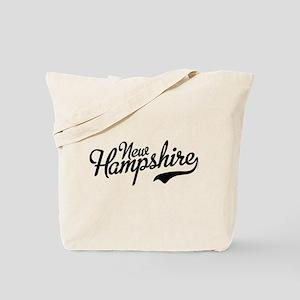New Hampshire Script Font Vintage Tote Bag