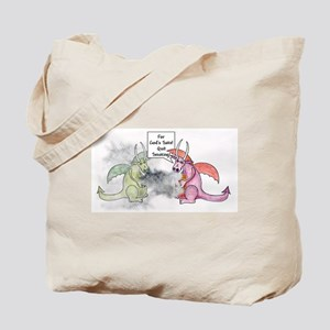 Smoking Dragon Tote Bag
