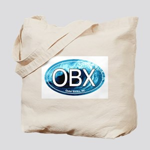 OBX Outer Banks NC Wave Oval Tote Bag