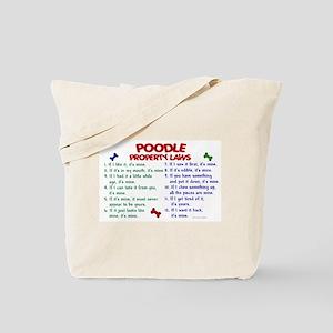 Poodle Property Laws 2 Tote Bag