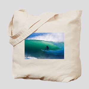 Surfing The Tube Tote Bag