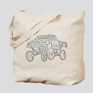Off-Road Race Truck Grey Tote Bag
