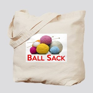 Knitting Ball Sack Tote Bag