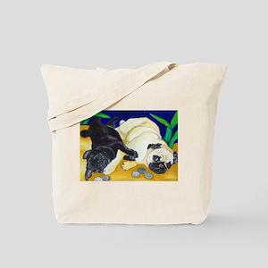 Pug Play Tote Bag