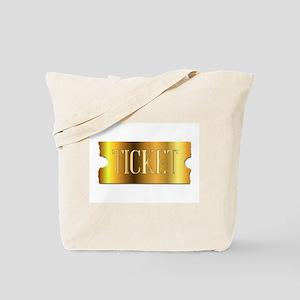 Simple Golden Ticket Tote Bag