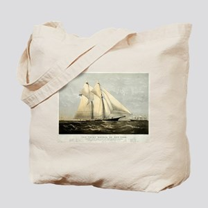 The yacht Meteor - 1869 Tote Bag