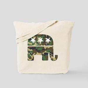 Republican Camo Elephant Tote Bag