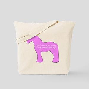 17 hands draft horses. Tote Bag