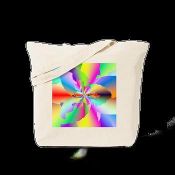 Fractal Fire Flower Tote Bag