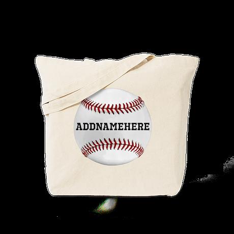 Custom Personalized Baseball Tote Bag