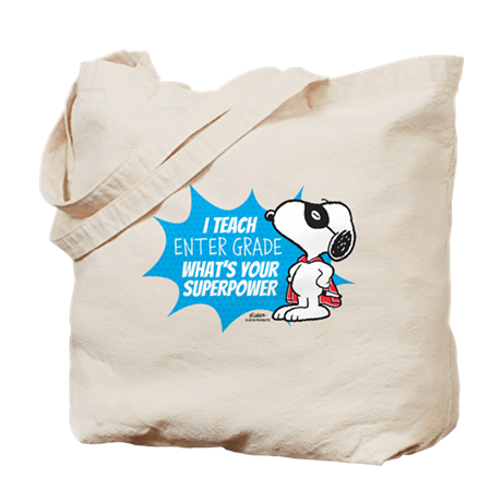 Snoopy Teacher - Personalized Tote Bag