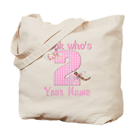 2nd Birthday Dragonfly Tote Bag