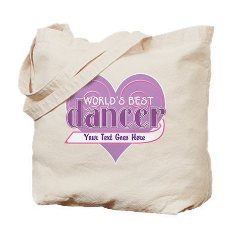 Personalize World's Best Dancer Tote Bag