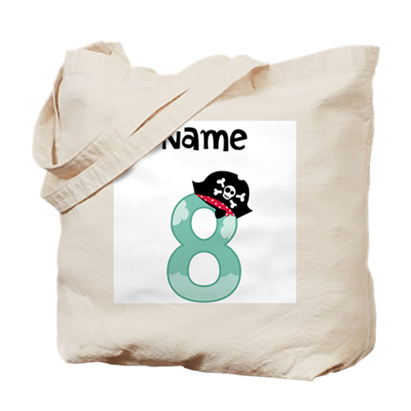 Pirate Eighth Birthday Tote Bag