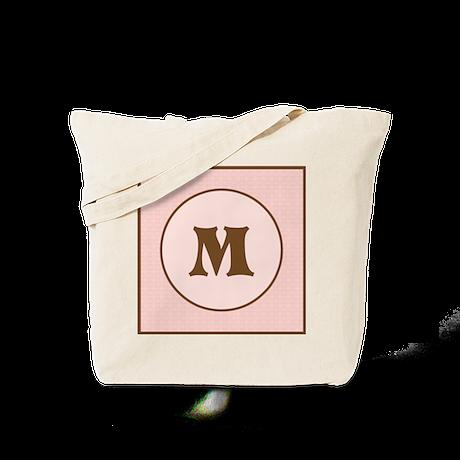 Pink Chocolate Monogram Tote Bag