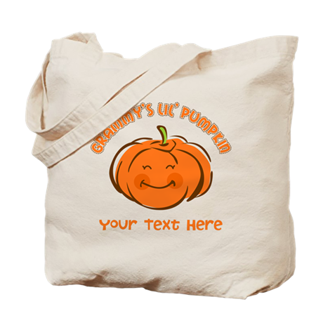 Grammy's Little Pumpkin Personalized Tote Bag