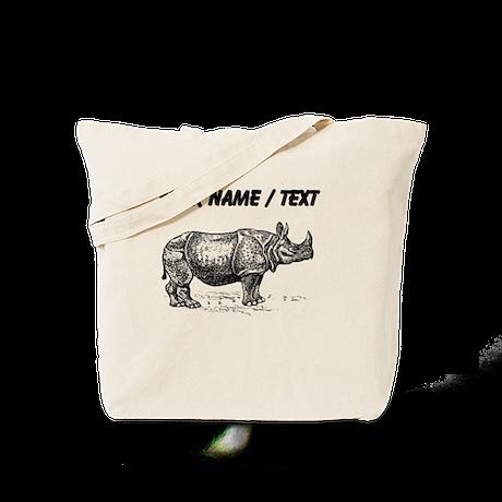 Custom Rhino Sketch Tote Bag