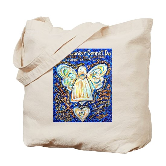 Blue  Gold Cancer Angel - Large