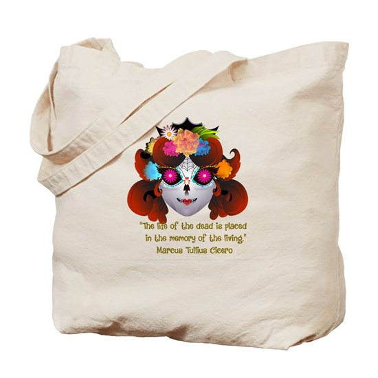 Sugar Skull with Quote
