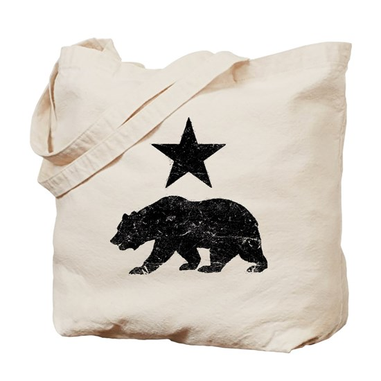 California Republic distressed Bear and Star