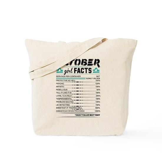 October Girl Facts Libra Tote Bag