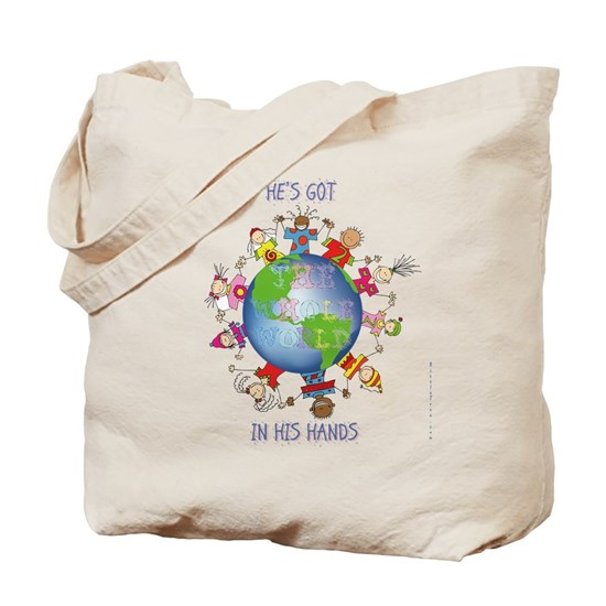 Hes Got The Whole World In His Hands Tote Bag