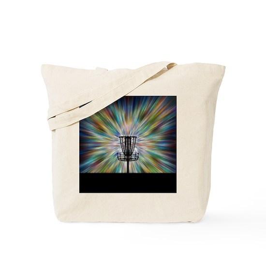 5636ad5b9c5 Disc Golf Basket Silhouette Tote Bag
