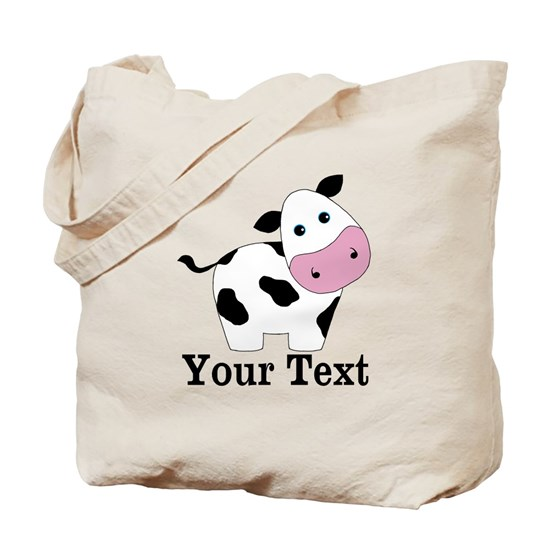 Personalizable Black  White Cow