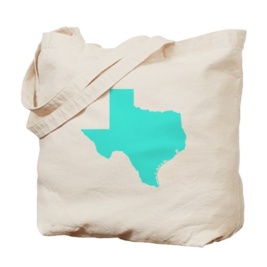 Texas Outline in Turquoise