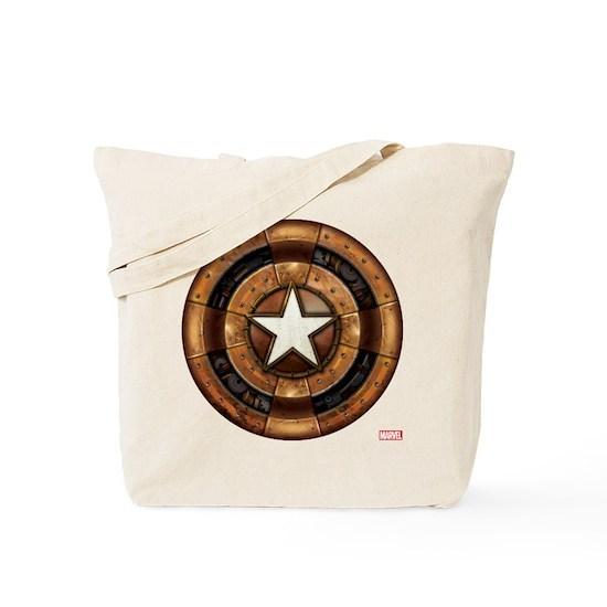 a523714ffc7723 Captain America Steampunk Shield Tote Bag by Marvel - CafePress