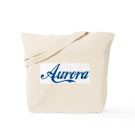 4dbd15c6f91 Aurora (cursive) Tote Bag